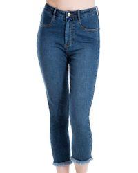 Max Studio - Released Hem Jeans - Lyst