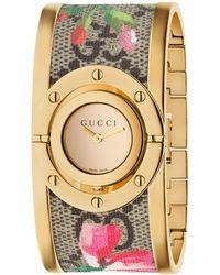 Gucci - Ya112443 Women's Twirl Fabric Strap Watch - Lyst