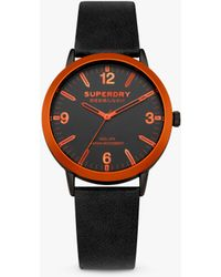 Superdry - Syg259b Unisex Kobe Leather Strap Watch - Lyst