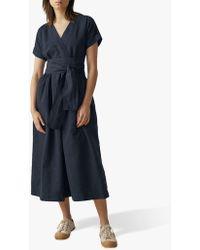 Toast Cotton-linen Wrap Front Dress
