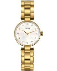 Rado - R22857923 Women's Coupole Diamond Bracelet Strap Watch - Lyst