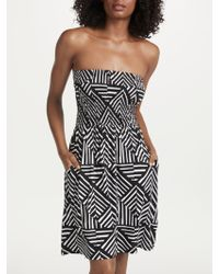 John Lewis - Diamond Geo Print Bandeau Jersey Dress - Lyst