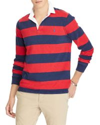 Ralph Lauren - Polo Long Sleeve Stripe Rugby Top - Lyst
