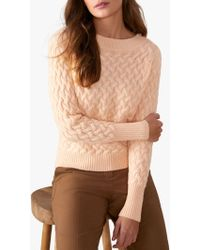 Pure Collection - Cable Knit Jumper - Lyst