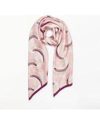 Modern Rarity - Circular Stripe Silk Scarf - Lyst