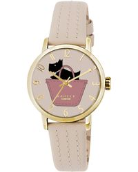 Radley - Ry2288 Women's Basket Dog Stitch Leather Strap Watch - Lyst