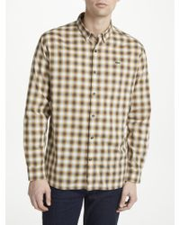 Lacoste - Live Boxy Long Sleeve Check Shirt - Lyst