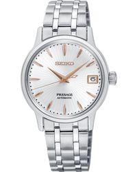 Seiko - Srp855j1 Women's Presage Automatic Date Bracelet Strap Watch - Lyst