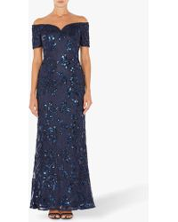 Adrianna Papell - Sequin Sweetheart Gown Dress - Lyst