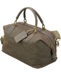 Barbour - Wax Cotton Travel Explorer Holdall - Lyst