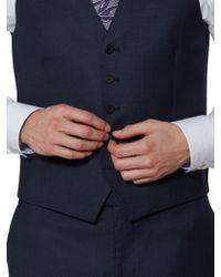 Ted Baker - Ralahw Wool Birdseye Tailored Waistcoat - Lyst
