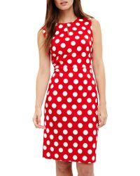 Phase Eight - Katlyn Keyhole Spot Dress - Lyst