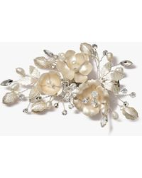 Ivory & Co. - Freshwater Pearl Leaf Hair Clip - Lyst
