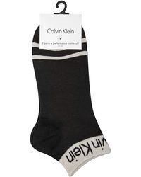 Calvin Klein - Performance Coolmax Stripe Liner Socks - Lyst