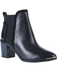 Ted Baker - Leihana Block Heel Slip On Ankle Boots - Lyst