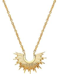Estella Bartlett | Half Sunburst Pendant Necklace | Lyst