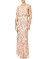 Adrianna Papell   Petite Art Deco Beaded Blouson Gown   Lyst