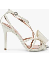 c7fcb7f6a39 Ted Baker Bowdalo Stiletto Heel Sandals in Metallic - Lyst
