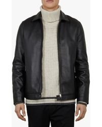 a295654a1 Lyst - Men s Ted Baker Leather jackets Online Sale
