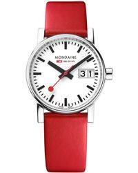 Mondaine - Mse.30210.lc Unisex Evo 2 Date Leather Strap Watch - Lyst