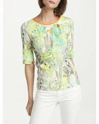 Marc Cain - Cactus Print Jersey T-shirt - Lyst