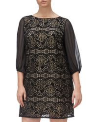 Adrianna Papell - Plus Size Scalloped Lace Shift Dress - Lyst