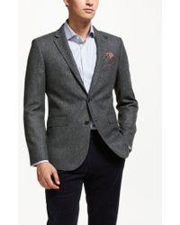 John Lewis - Wool Herringbone Tailored Blazer - Lyst
