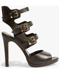 d06b0dca8c7 Karen Millen Studded Heeled Sandals in Metallic - Lyst