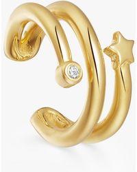 Missoma - Adjustable Celestial Star Hoop Earring - Lyst