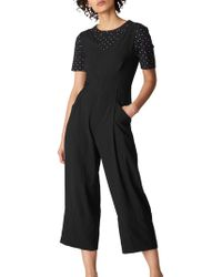 37ac6d50ef3 Whistles Lucy Strappy Tierred Jumpsuit in Black - Lyst