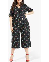 Oasis - Curve Floral Print Jumpsuit - Lyst