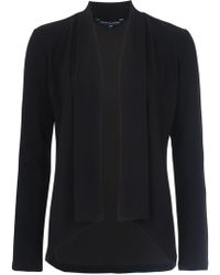 French Connection - Josie Jersey Drape Jacket - Lyst