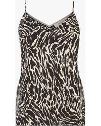Oasis Tiger Print V-neck Cami Top