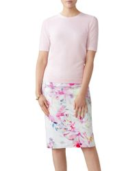 Pure Collection - Floral Digital Print Pencil Skirt - Lyst