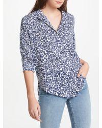 NYDJ - Blue Stars Printed Shirt - Lyst