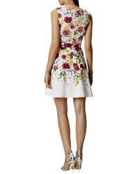 John Lewis - Floral A-line Dress - White/multi - Lyst