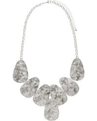 John Lewis - Hammered Oval Link Statement Necklace - Lyst