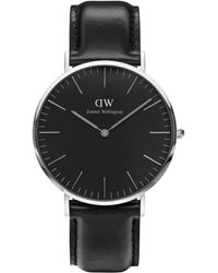 Daniel Wellington - Unisex Sheffield Leather Strap Watch - Lyst
