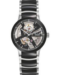 Rado - R30178152 Unisex Centrix Automatic Skeleton Bi-material Bracelet Strap Watch - Lyst