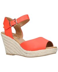 Miss Kg - Paisley Wedge Heeled Sandals - Lyst