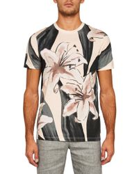 Ted Baker - Milions Floral Placement Cotton T-shirt - Lyst