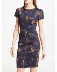 Marc Cain - Floral Neoprene Dress - Lyst