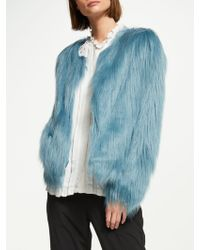 7df9eb8a20e Unreal Fur Unreal Dream Faux Fur Jacket in Pink - Lyst