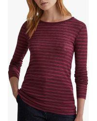 Toast - Stripe Wool Long Sleeve T-shirt - Lyst