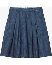 1a951e75f0 White Stuff Country Walk Denim Skirt in Blue - Lyst