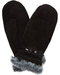 John Lewis - Hestra Pig Suede With Faux Fur Trim Thermal Mittens - Lyst