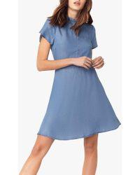 2da9e7b7c232 Miss Selfridge Belted Denim Shirt Dress in Blue - Lyst