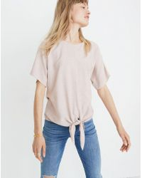 Madewell - Button Back Tie Stripe T-shirt - Lyst