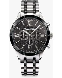 Thomas Sabo - Wa0139-222-203-43 Men's Rebel Urban Chronograph Date Bi-material Bracelet Strap Watch - Lyst