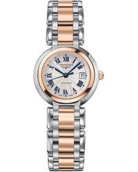 Longines - L81115786 Women's Prima Luna Automatic Date Two Tone Bracelet Strap Watch - Lyst
